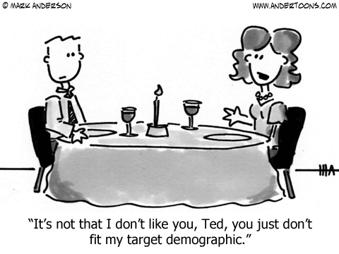 dont fit my target demographic cartoon - CT Local Marketing dot com