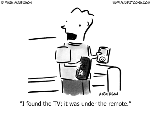 The TV was under the remote cartoon - CT Local Marketing - Video Production YouTube Marketing Video SEO